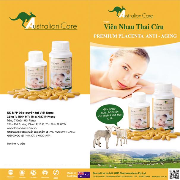 Thông tin, công dụng, thành phần của viên nhau thai cừu Australian Care